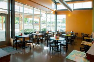 dining area, hendersonville community co-op