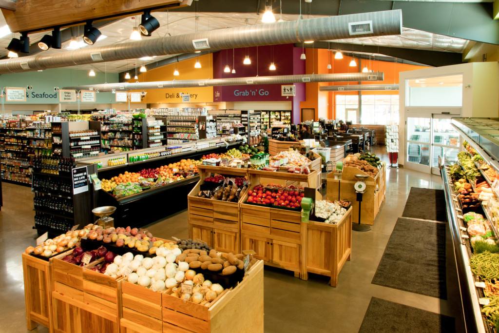 grocery section at the hendersonville community co-op, grocery aisle,
