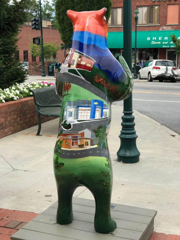 Hendersonville Nc Bears, Bearfootin Art Walk and Auction, Cooper Construction