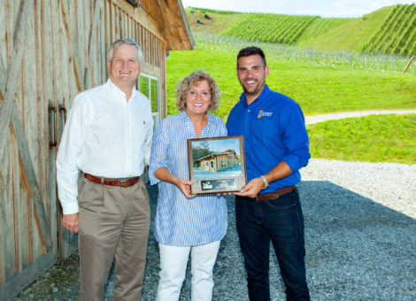 Cooper Construction Company wins national award for Stone Ashe Vineyard
